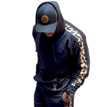 Load image into Gallery viewer, Jimmie Allen Pullover Black Hoodie w/Leopard Print