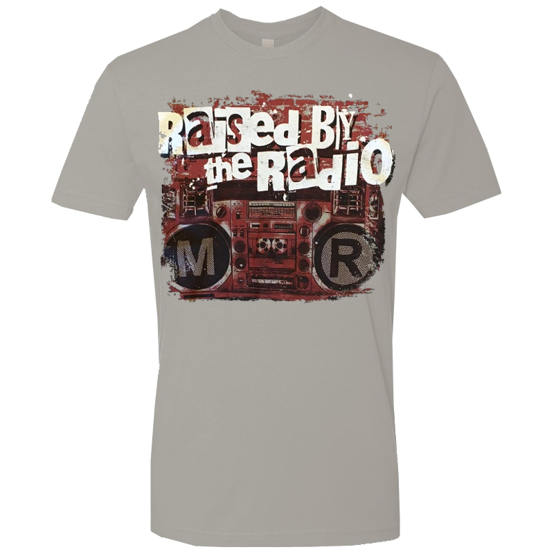 Mitch Rossell Grey Rasied By the Radio Tee