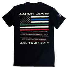 Load image into Gallery viewer, Aaron Lewis 2018 Black Tee- First Responders