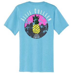 Allie Colleen Aquatic Blue Pocket Tee