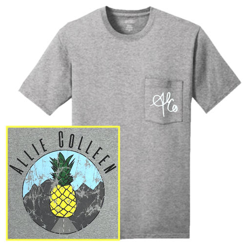 Allie Colleen Ash Pocket PineappleTee