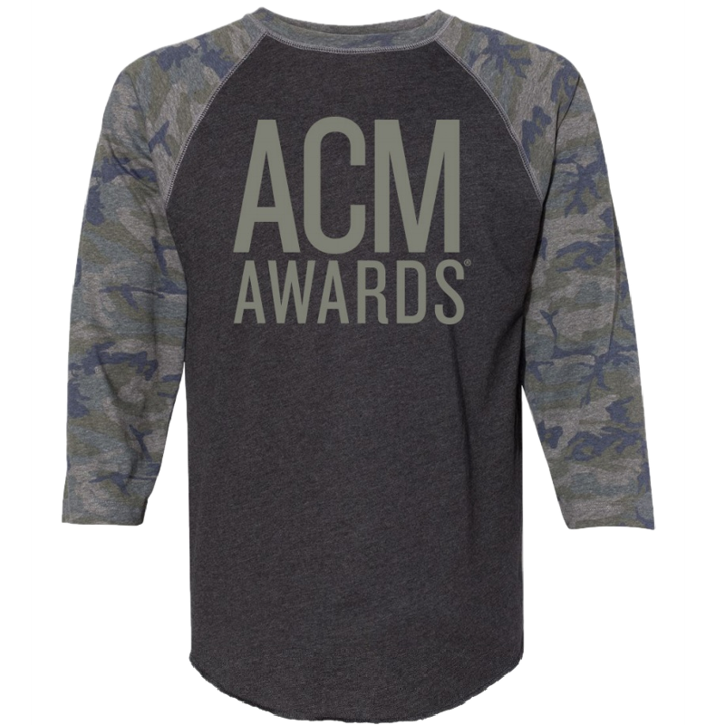 55th ACM Awards Vintage Smoke and Camo Baseball Tee