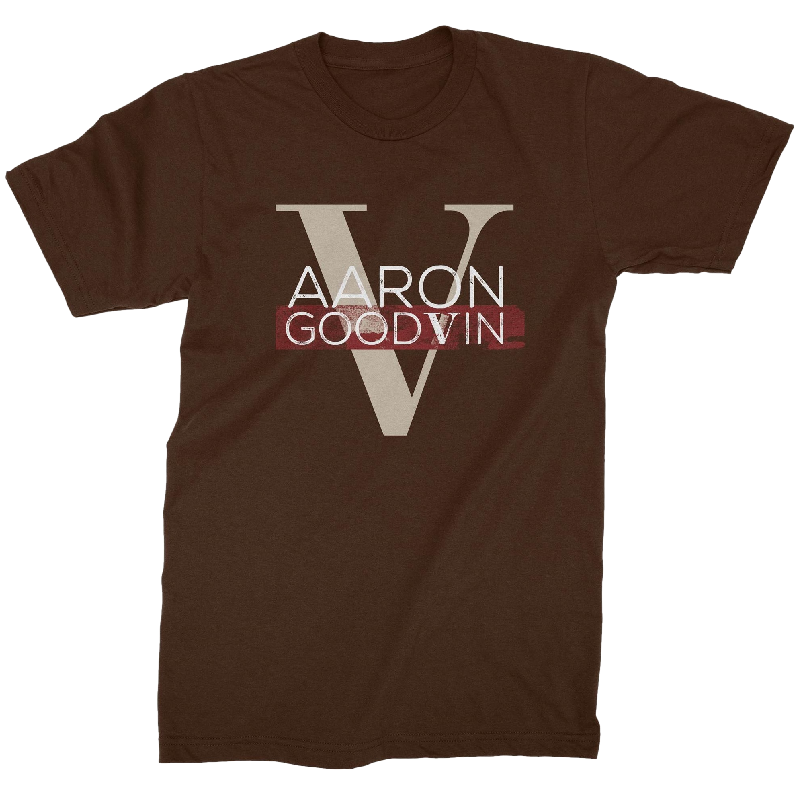 Aaron Goodvin Unisex Brown Crew Neck Tee