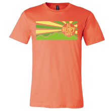 Load image into Gallery viewer, All Hempy Dayz Coral Sun Rays Tee