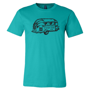 Socially Distant Lifestyle Teal Airstream Tee