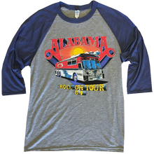 Load image into Gallery viewer, Alabama  Grey and Blue Raglan Tee- Roll On
