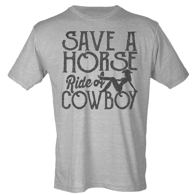 Big and Rich Heather Grey Save A Horse Tee