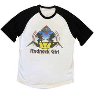 Bellamy Brothers White and Black Raglan Tee