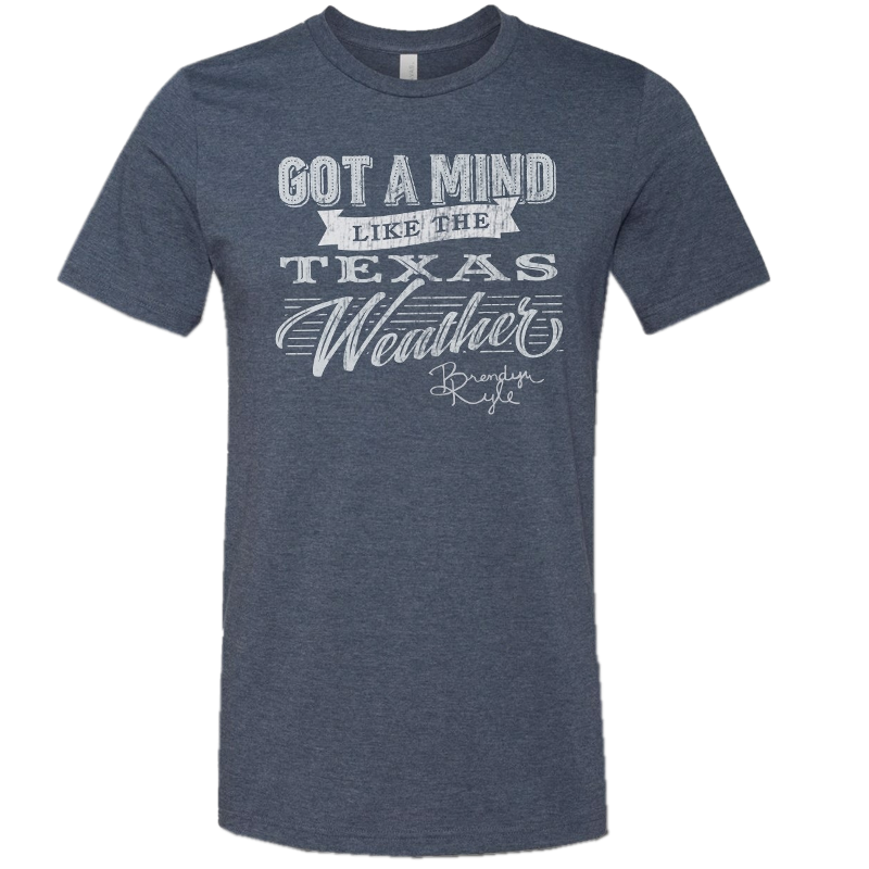 Brendyn Kyle Heather Navy Lyric Tee