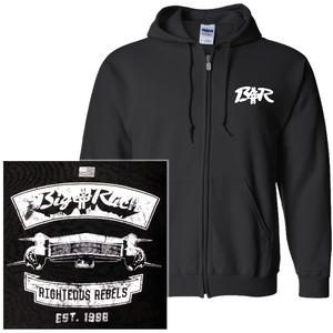 Big and Rich Black Zip Up Hoodie