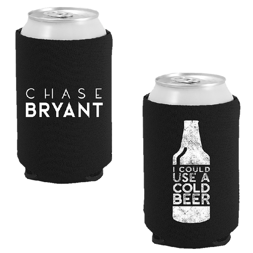 Chase Bryant Black Can Coolie- Beer