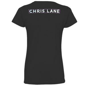 Chris Lane Ladies Black Tee- What's Your Name?