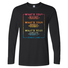 Load image into Gallery viewer, Chris Lane Long Sleeve What's Your Name Black Tee