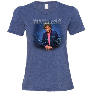 Conway Twitty Ladies Heather Blue Timeless Photo Tee