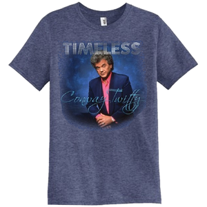 Conway Twitty Unisex Heather Blue Timeless Photo Tee