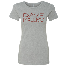 Load image into Gallery viewer, Dave McElroy Ladies Dark Heather Grey Tee