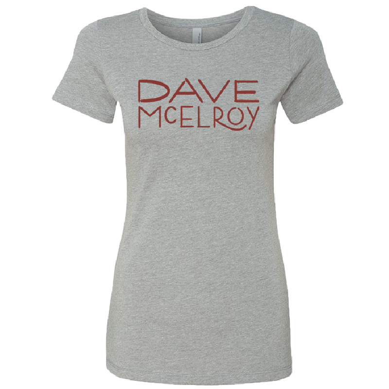 Dave McElroy Ladies Dark Heather Grey Tee