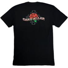 Load image into Gallery viewer, Gary Allan Black Skeleton and Roses Tee