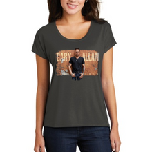 Load image into Gallery viewer, Gary Allan Ladies Drapey Dolman Charcoal Tee