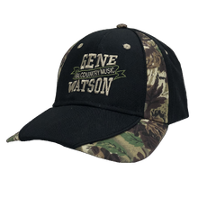 Load image into Gallery viewer, Gene Watson Real Country Music Camo and Black Ballcap