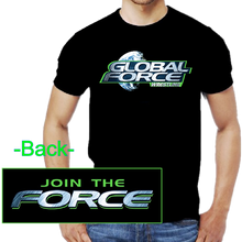 Load image into Gallery viewer, Global Force Wrestling Black Logo Tee