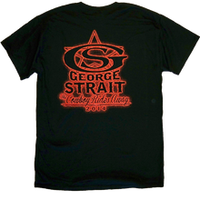 Load image into Gallery viewer, George Strait Black w/ Red Silhouette Tee
