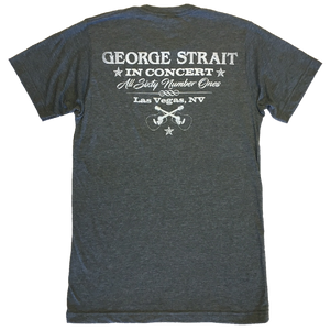 George Strait Heather Charcoal Belt Buckle Tee