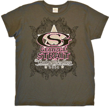 Load image into Gallery viewer, George Strait Ladies Charcoal Logo Tee