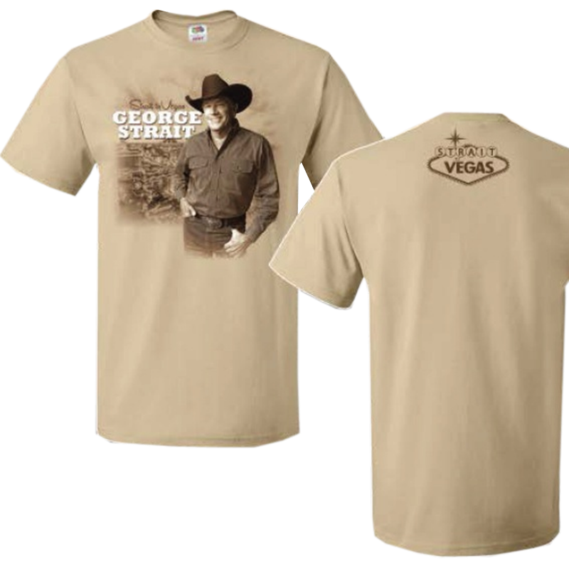 George Strait New Gold Strait To Vegas Tee