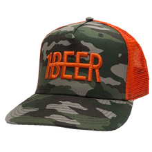 Load image into Gallery viewer, HARDY Camo and Orange Beer Hat