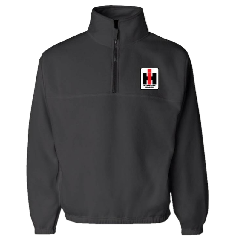 International Harvester Charcoal Fleece Zip Pullover