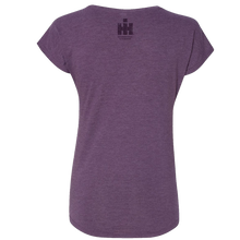 Load image into Gallery viewer, International Harvester Ladies Purple V Neck Tee