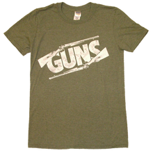Load image into Gallery viewer, Justin Moore Heather Military Green Guns Tee