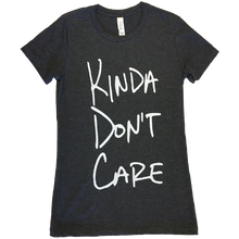 Load image into Gallery viewer, Justin Moore Ladies Dark Grey Heather Tee- Kinda Don't Care