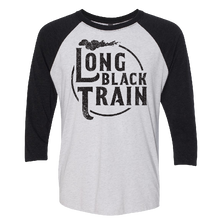 Load image into Gallery viewer, Josh Turner Heather White and Black Raglan Tee
