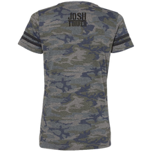 Load image into Gallery viewer, Josh Turner Ladies Camo and Black Jersey Tee