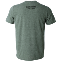 Load image into Gallery viewer, Josh Turner Heather Forest Green Tee- Faithful, Humble, Grateful