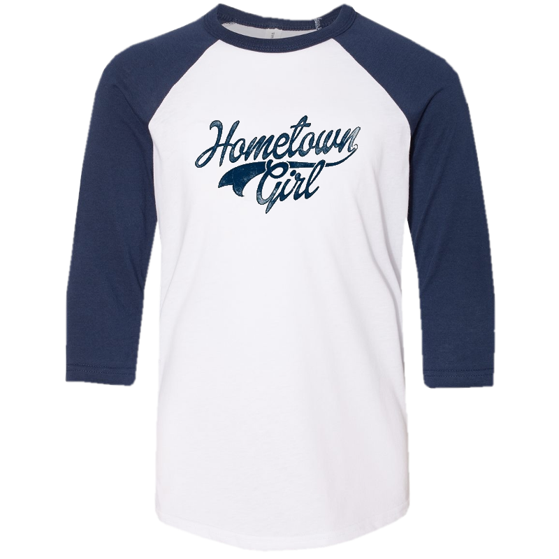 Josh Turner Ladies White and Navy Baseball Tee