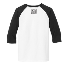 Load image into Gallery viewer, Josh Turner YOUTH White and Black Raglan Tee