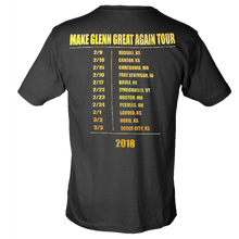 Load image into Gallery viewer, Logan Mize Black Make Glenn Great Again Tour Tee