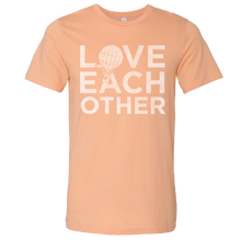 Load image into Gallery viewer, Love and Theft Unisex Heather Peach Love Each Other Tee