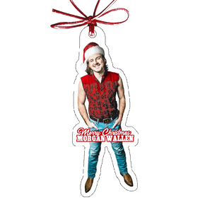 Morgan Wallen Photo Christmas Ornament