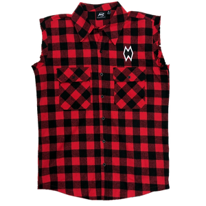Morgan Wallen Red Plaid Muscle Shirt