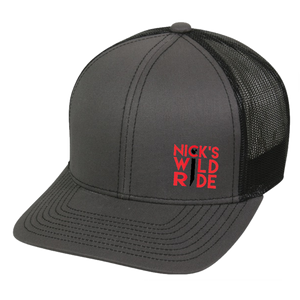 Nick's Wild Ride Charcoal and Black Ballcap