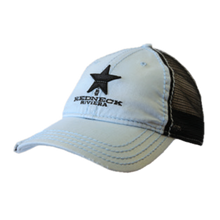 Load image into Gallery viewer, Redneck Riviera Baby Blue and Black Ballcap