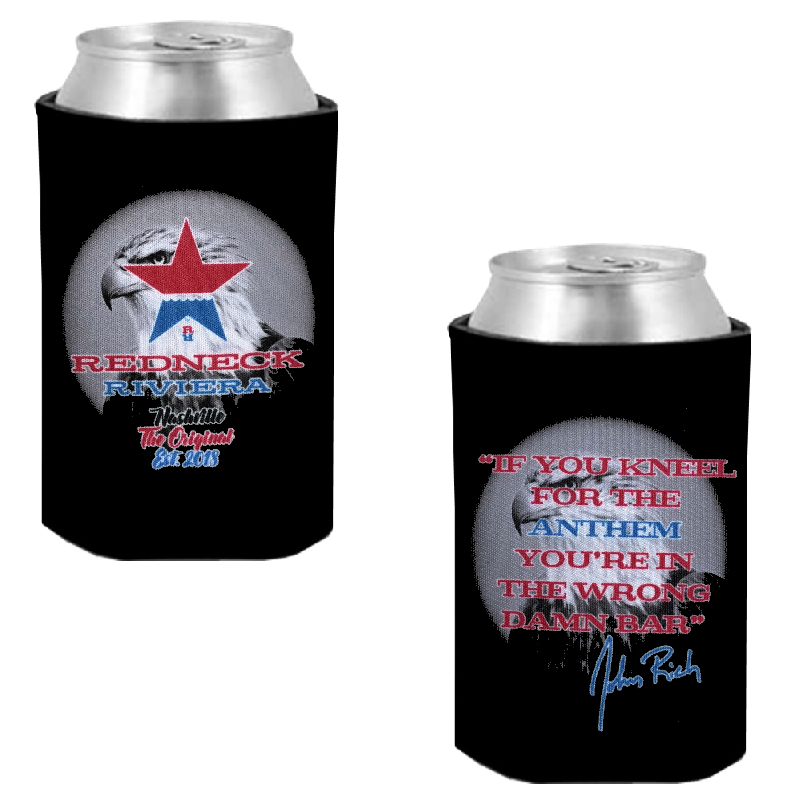 Redneck Riviera Black Can Coolie-If You Kneel for the Anthem