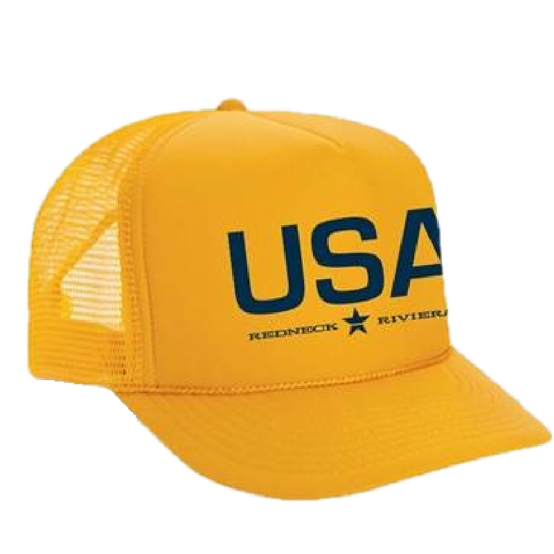 Redneck Riviera Gold USA Trucker Hat