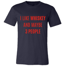 Load image into Gallery viewer, Redneck Riviera Navy I Like Whiskey Tee