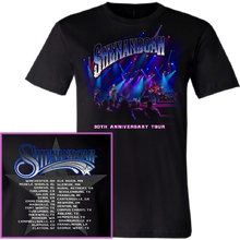 Load image into Gallery viewer, Shenandoah 30th Anniversary Black Tour Tee