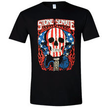 Load image into Gallery viewer, Stone Senate Black Skull Tee